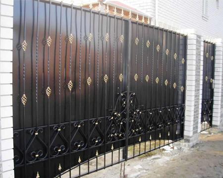 Ворота кованные