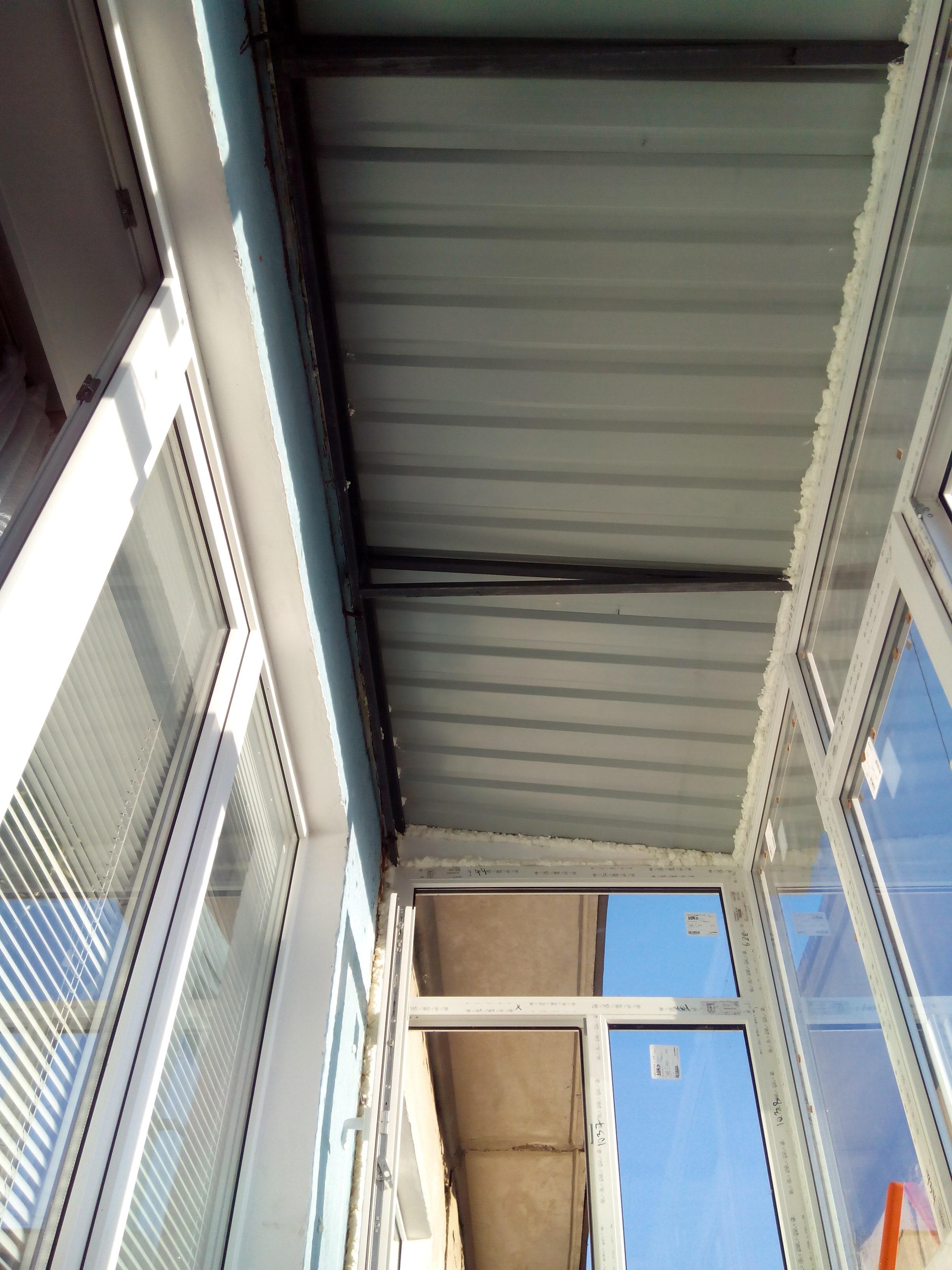 Крыша на балконе Сумы