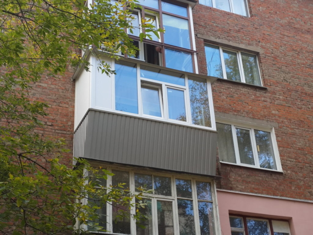 Наружная отделка балкона