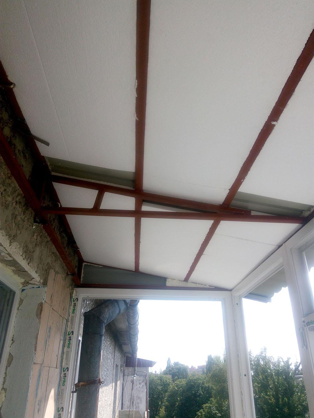 ремонт крыши балкона сумы